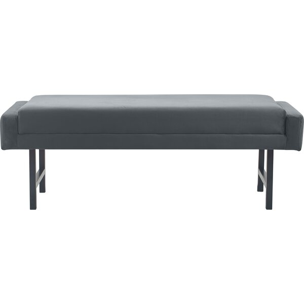 Benoit Mid Century Modern Upholstered Bench by Elle Decor