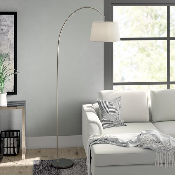 Cortez 83 Arched Floor Lamp by Mercury Row