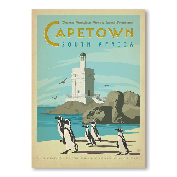 Cape Town Vintage Advertisement by East Urban Home