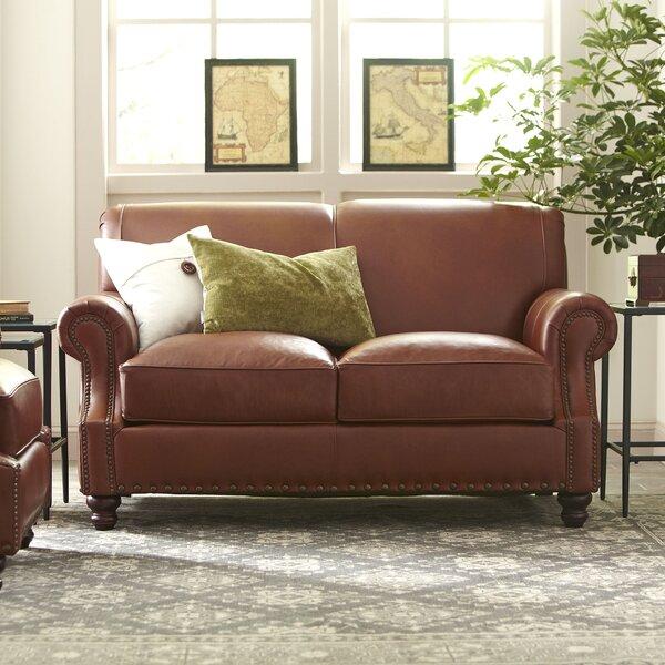 Landry Leather Loveseat by Birch Lane™