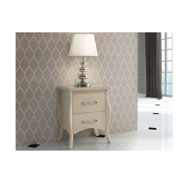 Weldon 2 Drawer Nightstand by Rosdorf Park