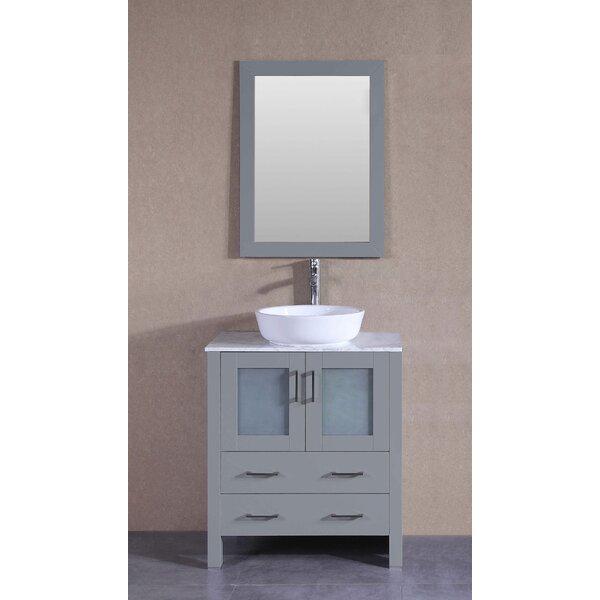 Chapman 30 Single Bathroom Vanity Set with Mirror by Bosconi