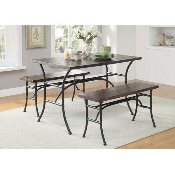 Brune Metal 3 Piece Dining Set by Gracie Oaks
