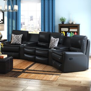 Yonkers Leather Reclining Sectional : black leather sofa sectional - Sectionals, Sofas & Couches