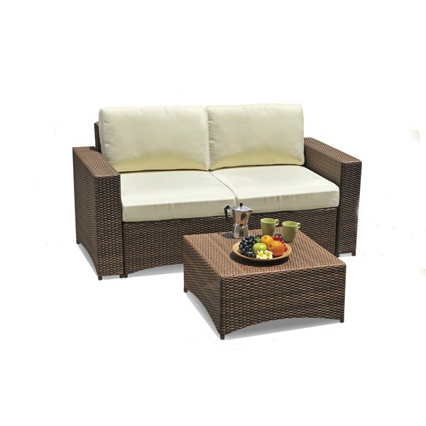 Defranco Modular 2 Piece Sofa Seating Group with Cushions by Highland Dunes