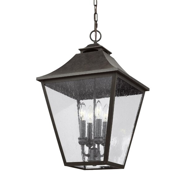 Stults 4-Light Outdoor Hanging Lantern by Charlton Home