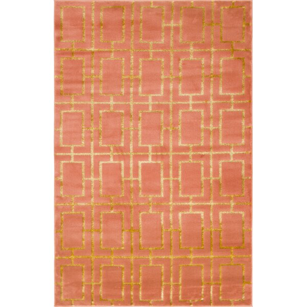 Glam Coral Area Rug by Marilyn Monroe