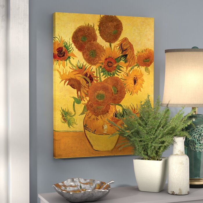 Alcott Hill Vase With Fifteen Sunflowers By Vincent Van Gogh