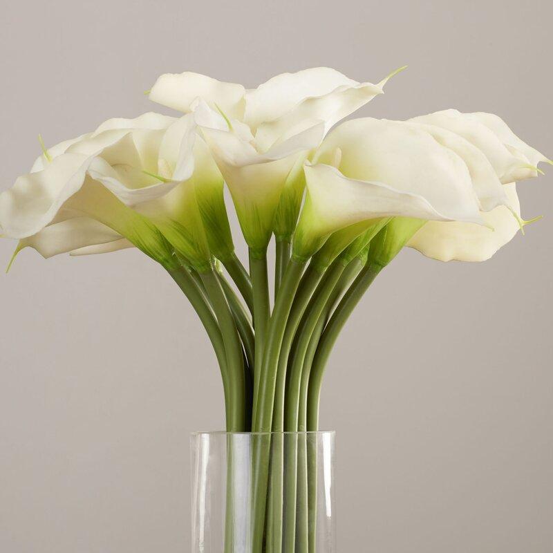 Willa arlo interiors calla lily in cylinder silk flower arrangement calla lily in cylinder silk flower arrangement mightylinksfo