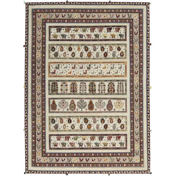 One-of-a-Kind Hand-Knotted Wool Ivory Area Rug by Bokara Rug Co., Inc.