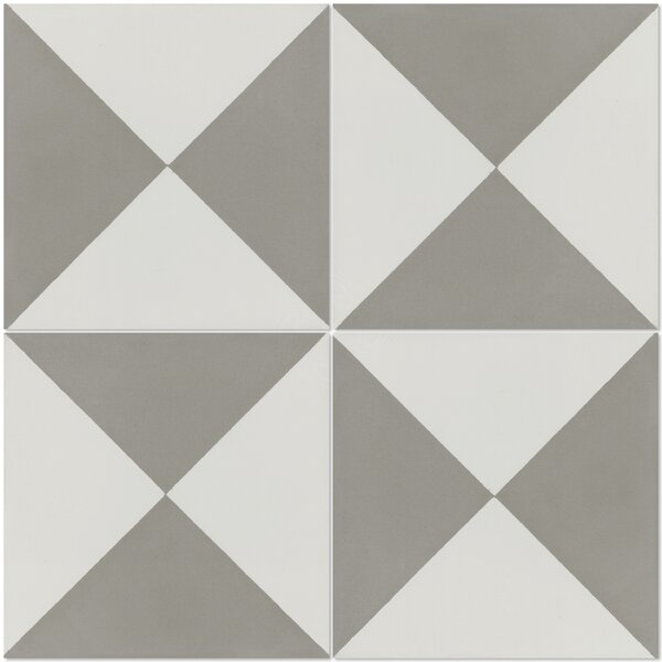 Tugboat Featherstone 8 x 8 Cement Field Tile in Gray/White by Villa Lagoon Tile