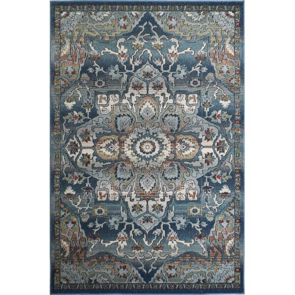 Kauffman Blue Area Rug by World Menagerie