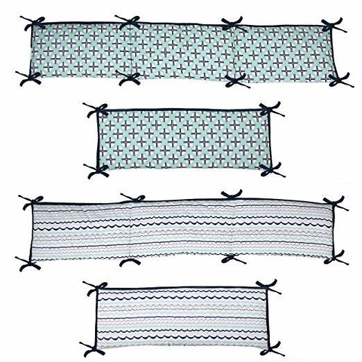 Noah Tribal 4 Piece Bumper Pad Set by Bacati
