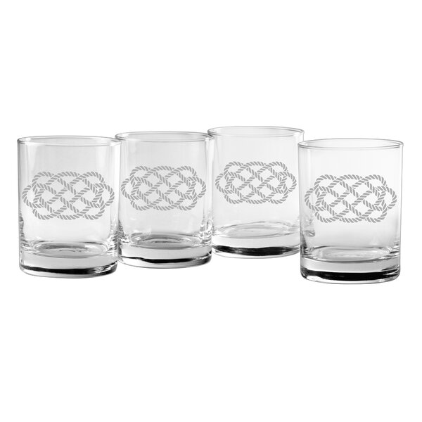 Cristobal Ocean Plait 14 oz. Cocktail Glass (Set of 4) by Breakwater Bay
