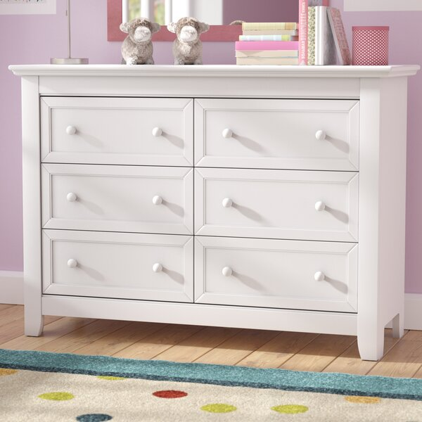 Plympton 6 Drawer Double Dresser by Three Posts Baby & Kids Three Posts Baby & Kids