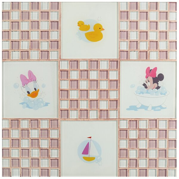 Disney Baby Glass Mosaic Tile in Pink by EliteTile