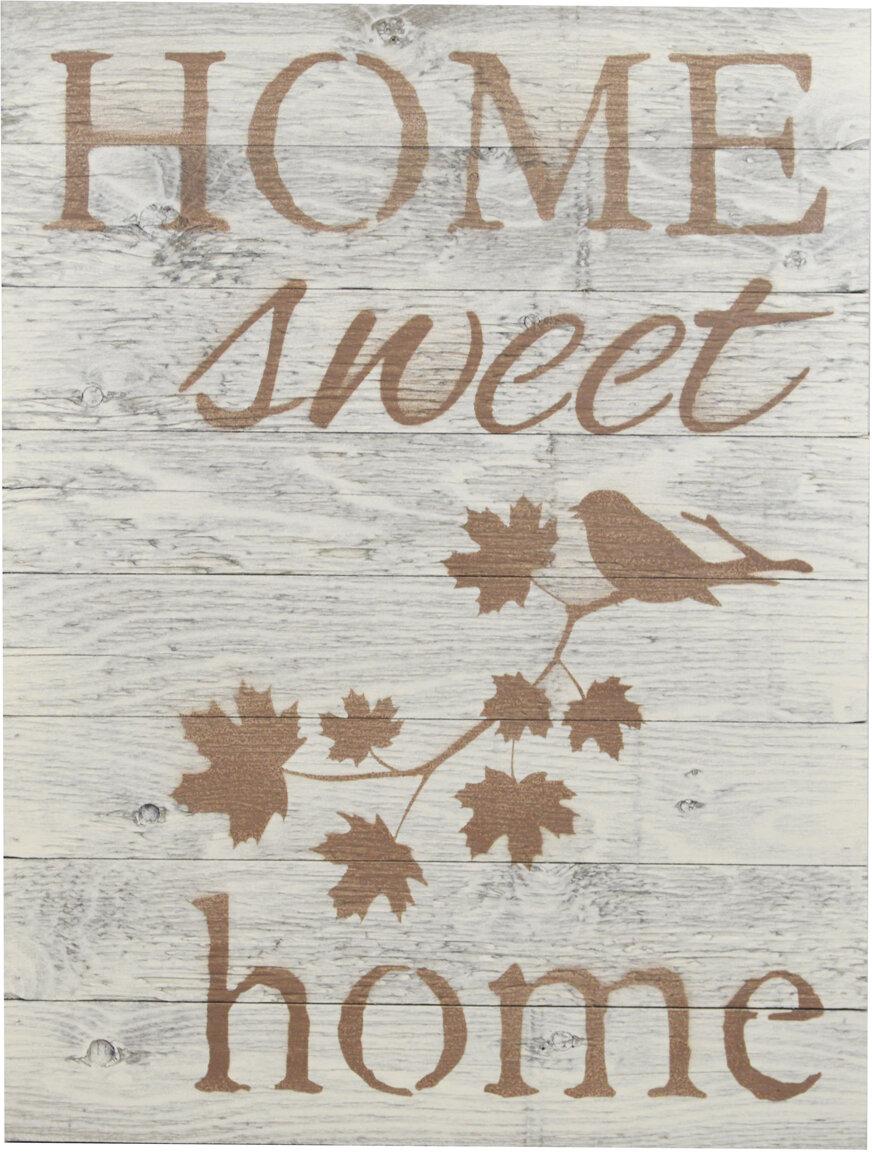 Firesidehome Home Sweet Wooden Pallet Sign Wall Décor Reviews Wayfair