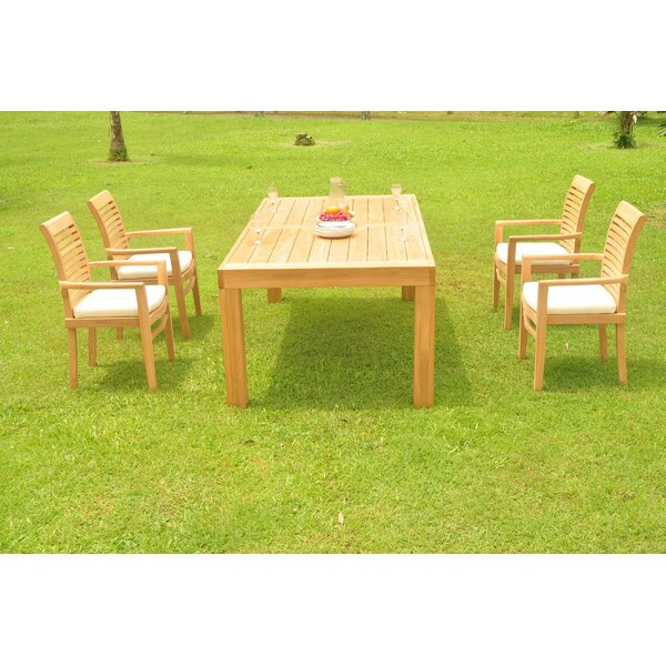 Tylor 5 Piece Teak Dining Set by Rosecliff Heights
