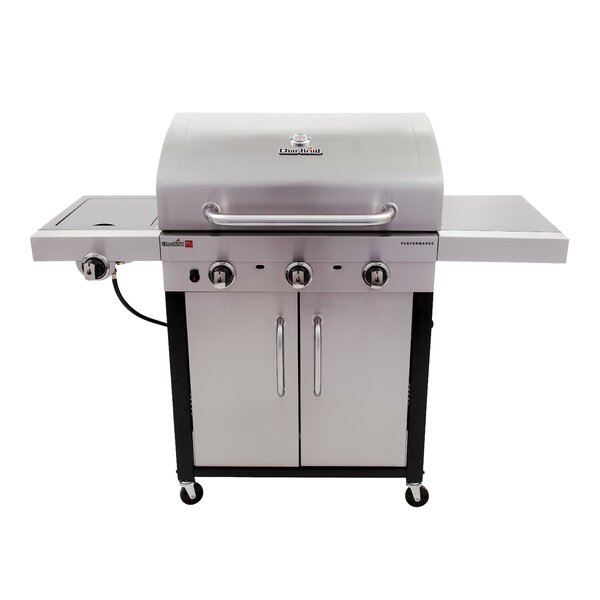 Performance TRU-Infrared 3-Burner Propane Gas Grill with Cabinet by Char-Broil