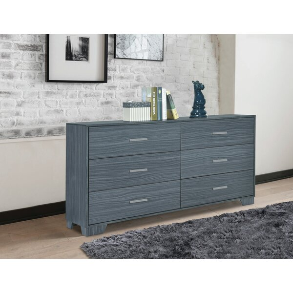 Sanket 6 Drawer Double Dresser by Orren Ellis Orren Ellis