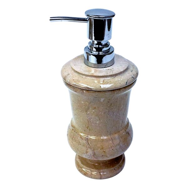 Sahara Beige Marble Liquid Soap Dispenser by Nature Home Decor