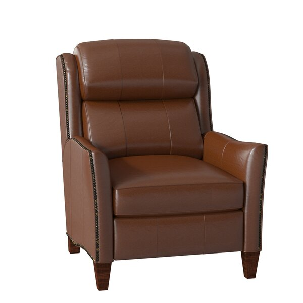 Lancaster Leather Manual Recliner By Bradington-Young