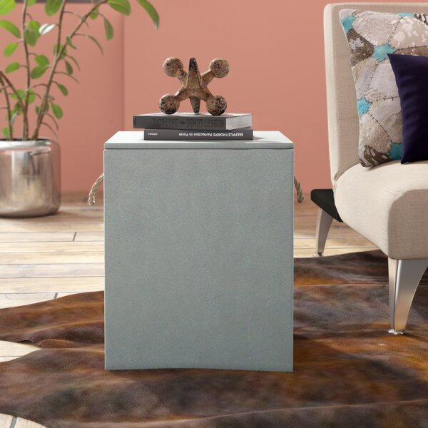 Crutchfield Concrete Accent Stool by 17 Stories