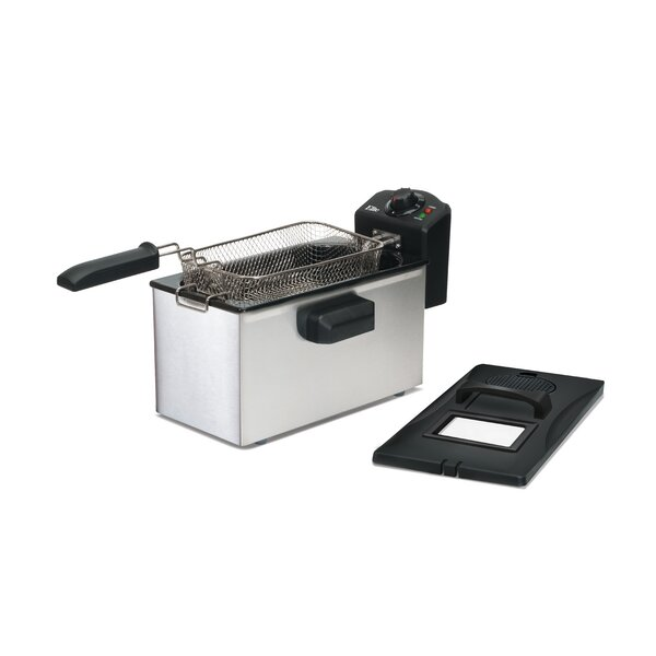 Gourmet 3.5 Liter Stainless Steel Immersion Deep Fryer by Elite by Maxi-Matic