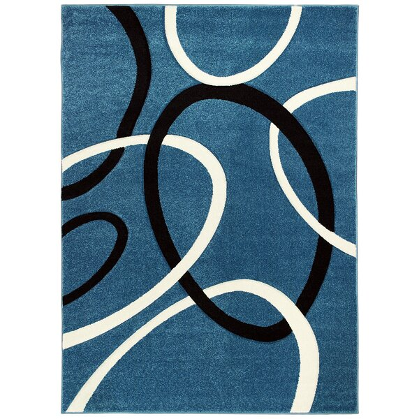 Ayer Hand-Carved Blue Area Rug by Latitude Run
