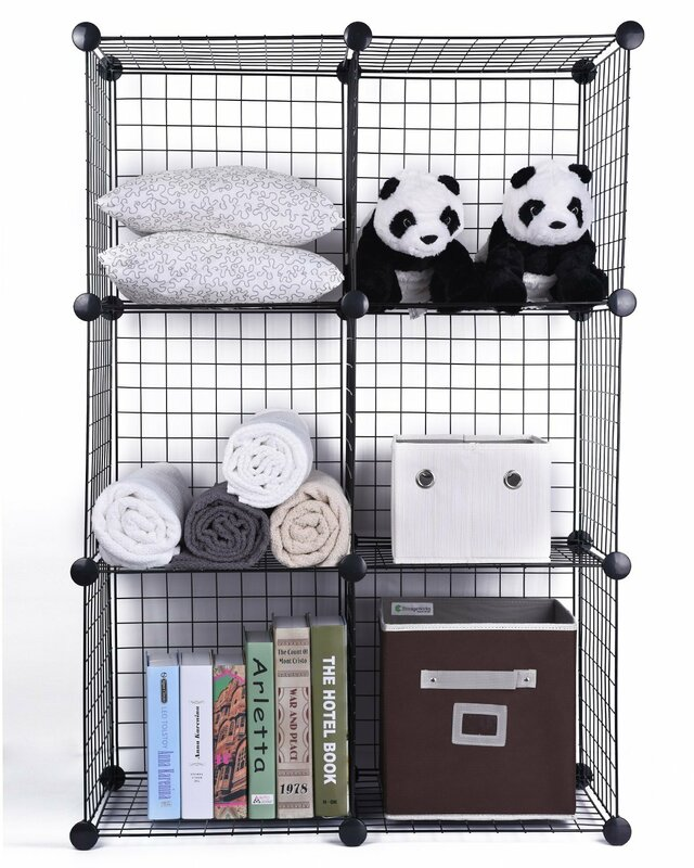 Rebrilliant Storage Clothes Organizer Metal/Wire Cube or Bin ...