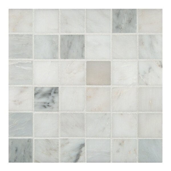 Arabescato Carrara 2 x 2 Grid Marble Mosaic Tile by MSI