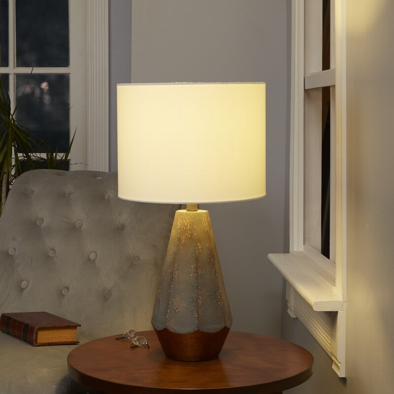 Rampal rustic prism 25 table lamp with accent