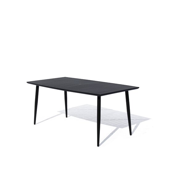 August Euart Metal Dining Table by Modern Rustic Interiors