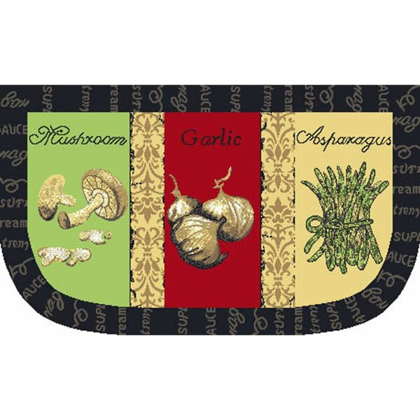 Garlic Slice Kitchen Mat by J and M Home Fashions