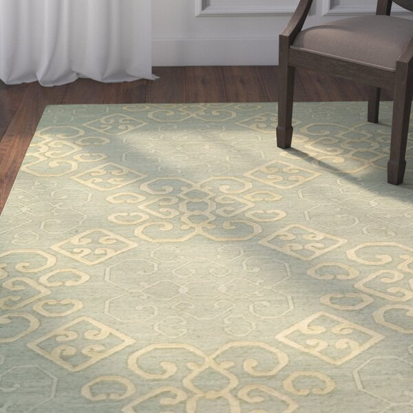 Cedarwood Hand-Woven Light Green Area Rug by Darby Home Co