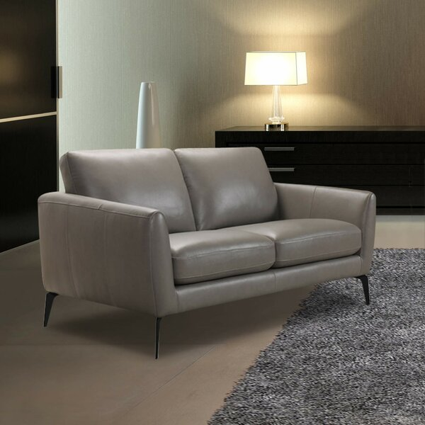 Abby Leather Loveseat by Modern Rustic Interiors