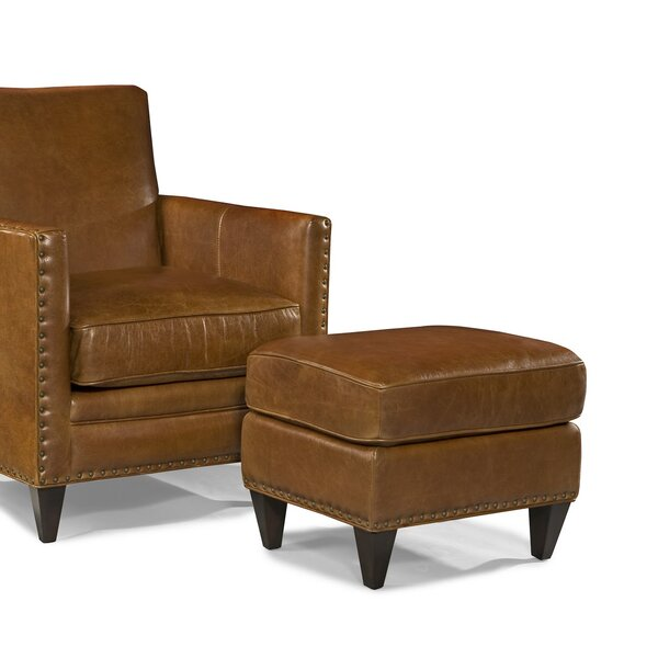 Eastgate Leather Ottoman by Loon Peak