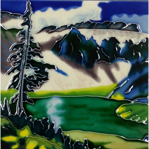 Mountain View Tile Wall Decor by Continental Art Center