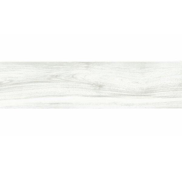 Deck 12 x 48 Porcelain Wood Look/Field Tile in White by Tesoro