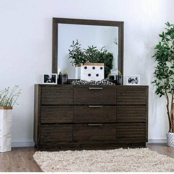 Carsten 9 Drawer Chest with Mirror by Millwood Pines