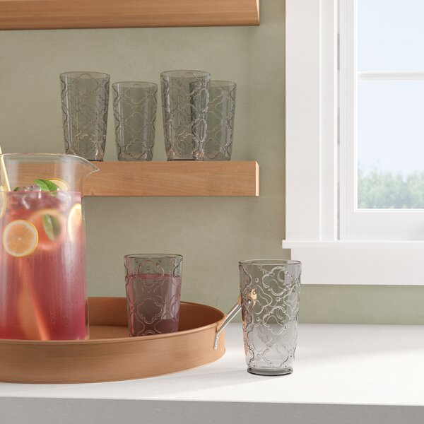 Jesse 20 oz Plastic Drinking Glass (Set of 6) by Charlton Home
