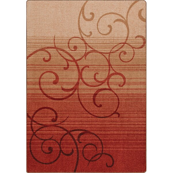 Mix and Mingle Festival Red Whispering Wind Rug by Milliken