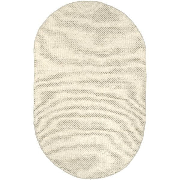 Arviso Hand-Woven Wool White Area Rug by Langley S