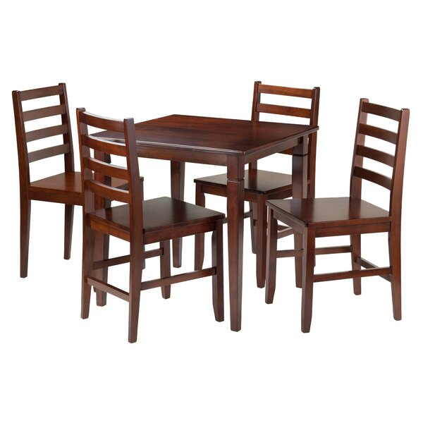Hemphill 5 Piece Dining Set by Red Barrel Studio