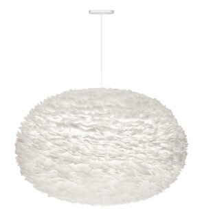 Best Deals Eos Hardwired 1-Light Modern Feather Globe Pendant By Umage