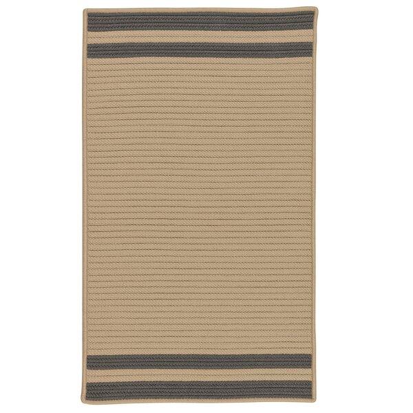 Kellie Stripe Hand-Braided Brown/Gray Indoor/Outdoor Area Rug by Breakwater Bay