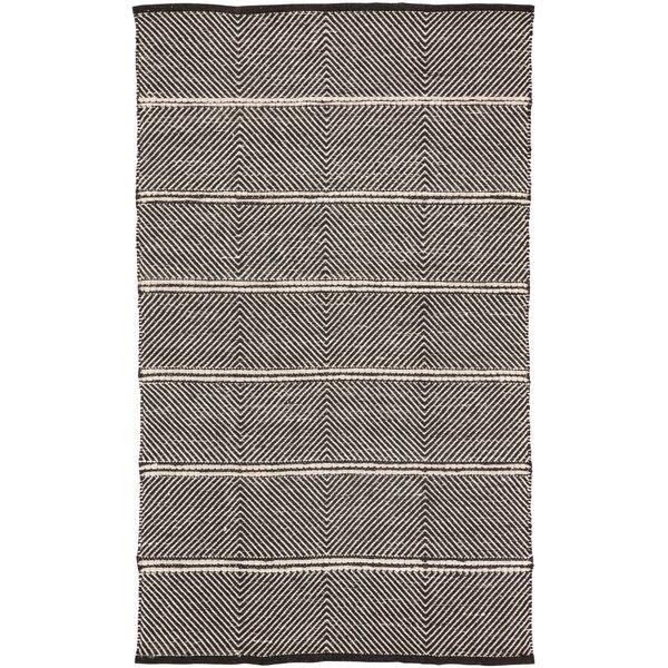 Keswick Geometric Hand-Woven Gray Area Rug by Williston Forge