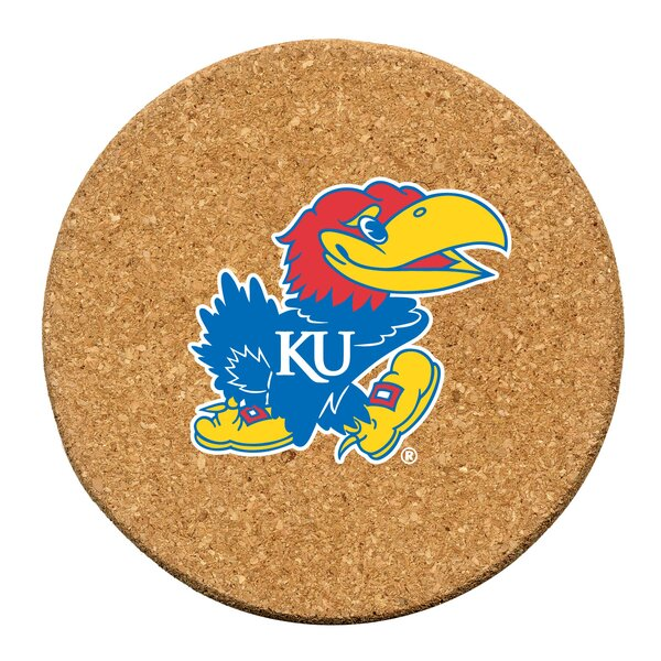 University of Kansas Cork Collegiate Coaster Set (Set of 6) by Thirstystone