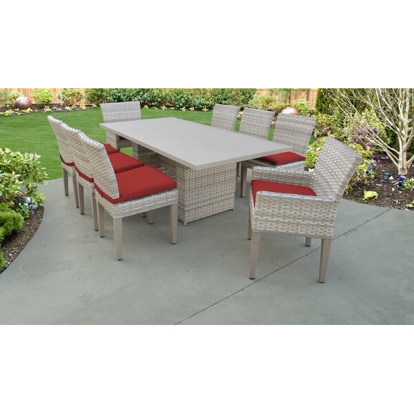 Waterbury 9 Piece Outdoor Patio Dining Set with Cushions by Sol 72 Outdoor