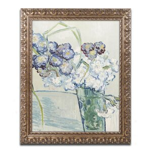 Still Life, Vase of Carnations by Vincent van Gogh Framed Painting Print by Trademark Fine Art